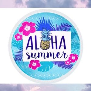 Aloha Summer Beach Pool Towel Round